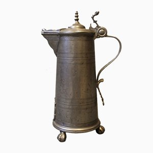 Large Lidded Mug in Tin, 1780s
