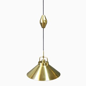 Brass Model P 295 Pendant by Frits Schlegel for Lyfa, 1960s