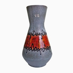 Vintage German Flamed Ceramic Vase from Carstens