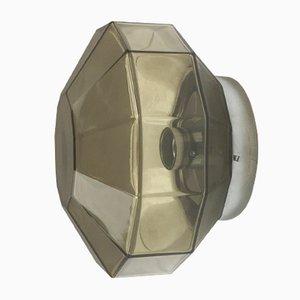 Lampada da parete Diamond modernista di Glashütte Limburg, Germania, anni '70