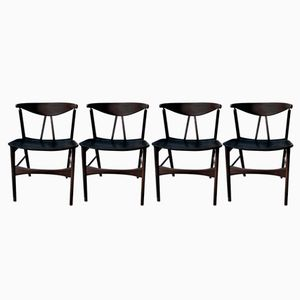 Vintage Danish Chairs, Set of 4