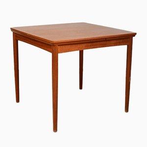 Tavolo da pranzo quadrato Mid-Century in teak di Poul Hundevad per Hundevad & Co