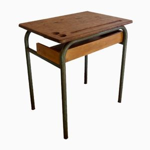 School Desk with Shelf, 1950s