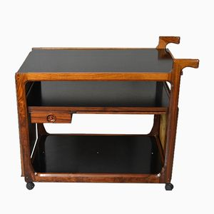 Mid-Century Rosewood Drinks Trolley