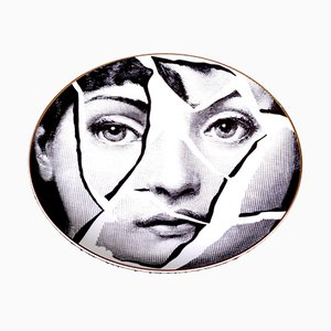Ceramic Plate by Piero Fornasetti for Rosenthal, 1980s