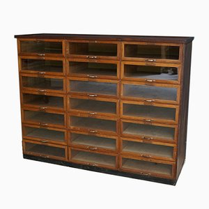 Vintage Oak Haberdashery Shop Cabinet, 1930s