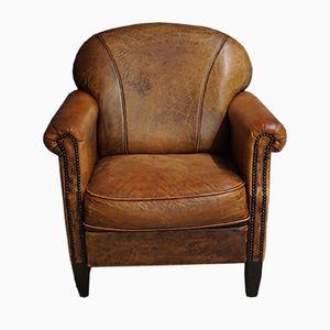 Cognacfarbener Vintage Leder Sessel