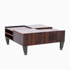 Multifunctional Italian Modern Rosewood Coffee Table, 1960s