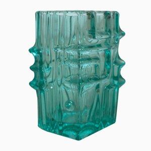 Vintage Green Glass Vase by Vladislav Urban