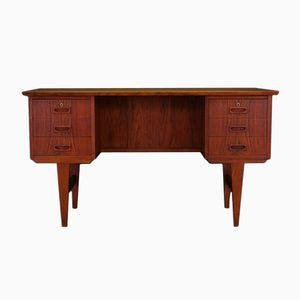Mid-Century Danish Teak Veneered Desk