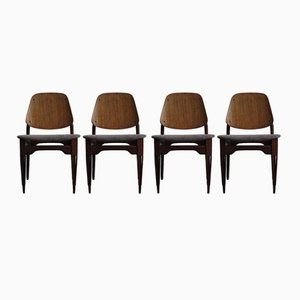 Mid-Century Dining Chairs by Fratelli Proserpio, Set of 4
