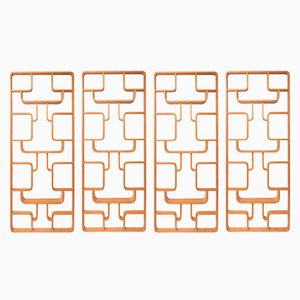 Room Dividers by Ludvik Volak for Drevopodnik Holesav, 1959, Set of 4