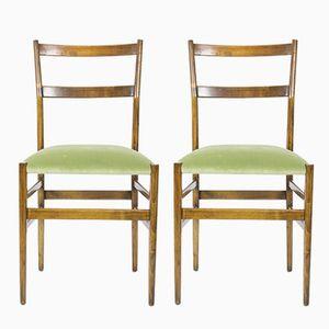 Leggera Esszimmerstühle von Gio Ponti für Cassina, 1950er, 2er Set