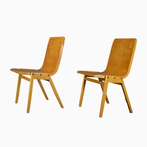 Vintage Plywood Chairs by Roland Rainer for Wilkhahn, Set of 2