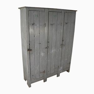 Vintage Industrial Grey Lockers