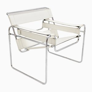 Vintage White Wassili Chair by Marcel Breuer