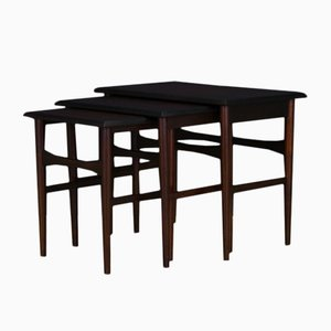 Danish Rosewood Veneer Nesting Tables Set