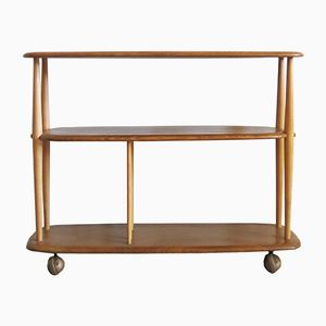 Mid-Century Elm Bookcase or Trolley by Lucian Ercolani for Ercol
