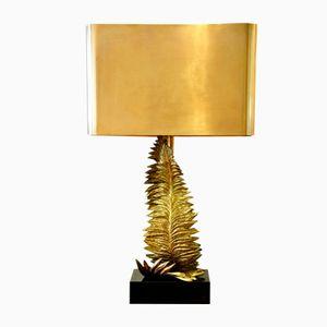 Lampada Fougère in bronzo dorato di Maison Charles, anni '60