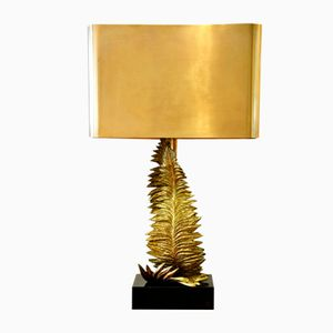 Vergoldete Bronze Fougère Lampe von Maison Charles, 1960er