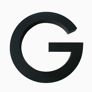 Panneau de Lettre G Vintage en Métal