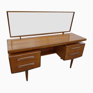 Mid-Century Fresco Dressing Table or Ladies Desk with Mirror by Victor Wilkins for G-Plan, 1960s