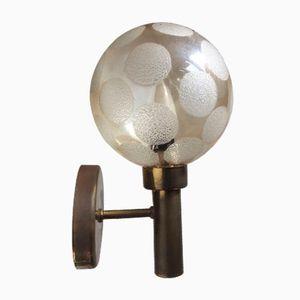 Applique sferica in ottone e vetro di Markaryd, anni '60