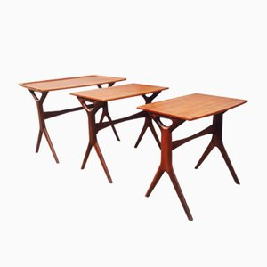 Danish Teak Nesting Tables by Johannes Andersen for CFC, 1960s