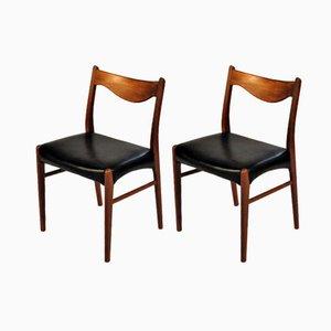 Teak Esszimmerstühle von Ejnar Larsen & Axel Bender Madsen für Glyngøre Stolefabrik, 1960er, 2er Set