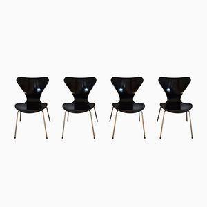 Serie 7 Stühle von Arne Jacobsen für Fritz Hansen, 1950er, 4er Set