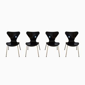 Series 7 Chairs by Arne Jacobsen for Fritz Hansen, 1950s, Set of 4