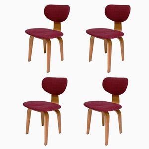 Mid-Century SB02 Dining Chairs by Cees Braakman for Pastoe, Set of 4