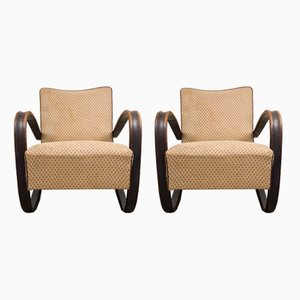 Lounge Chairs by Jindrich Halabala for Thonet, 1930s, Set of 2