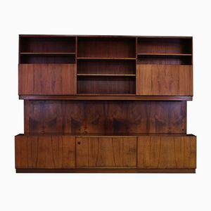 Vintage Rosewood Veneer Wall Unit by Ib Kofod-Larsen for Faarup Møbelfabrik