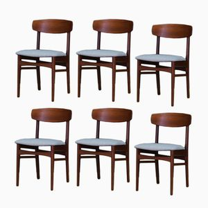 Mid-Century Danish Teak Chairs, Set of 6