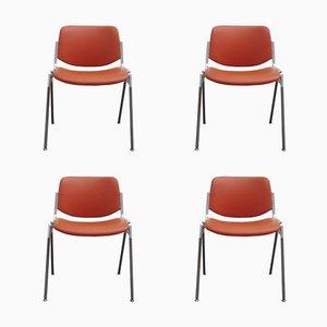 Stapelbare DSC 106 Stühle von Giancarlo Piretti für Castelli, 1970er, 4er Set