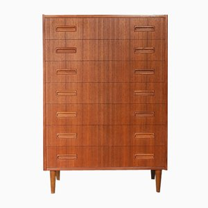 Mid-Century Danish Modern Teak Veneer Cabinet by Børge Seindal for Westergaard Møbelfabrik, 1968