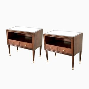 Mahogany Nightstands, 1950s, Set of 2