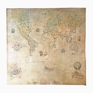 Grande Carte du Monde Vintage