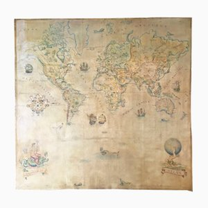 Vintage Large World Map