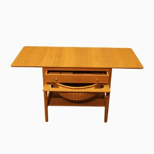 Vintage AT33 Sewing Table by Hans J. Wegner for Andreas Tuck