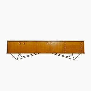 Sideboard with Diamond Steel Base, 1960s