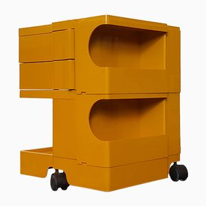 Vintage Yellow Boby Storage Trolley by Joe Colombo for Bieffeplast