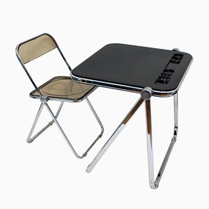 Italian Folding Desk with Chair from Castelli, 1965