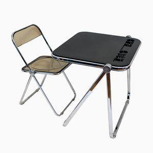 Italienischer Klapp- Schreibtisch mit Stuhl von Castelli, 1965