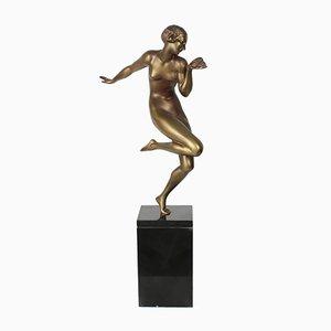 Art Deco Bronze Tänzerin von Gauthier, 1920er