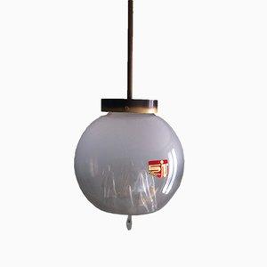 Italienische Vintage Murano Glaskugel Hängelampe von Toni Zuccheri für Venini