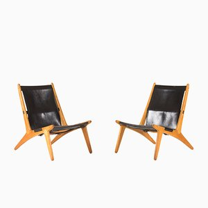 Mid-Century Hunting Chairs by Uno and Östen Kristiansson for Vitssjö Möbler, Set of 2