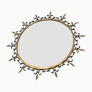 Italienischer Spiegel in Sonnen Optik, 1950er