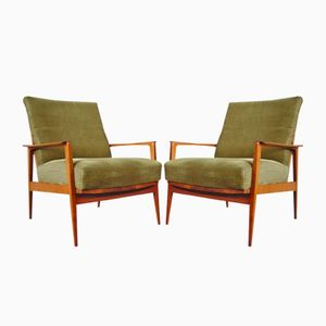 Teak Antimott Armchairs by Wilhelm Knoll, 1950s, Set of 2